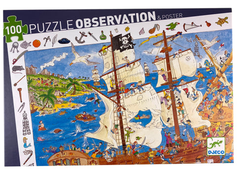Pirates 100 piece observation puzzle