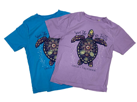 Kids T-Shirt  Bubbling Turtle