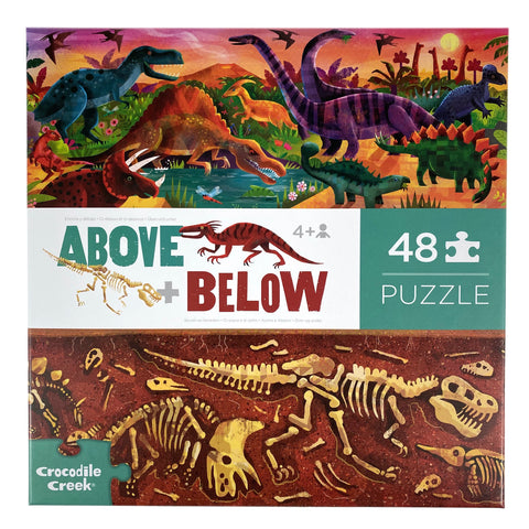 Above and Below Dino World 48 Piece Puzzle