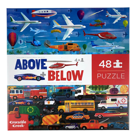 Above and Below Things That Go 48 Piece Puzzle