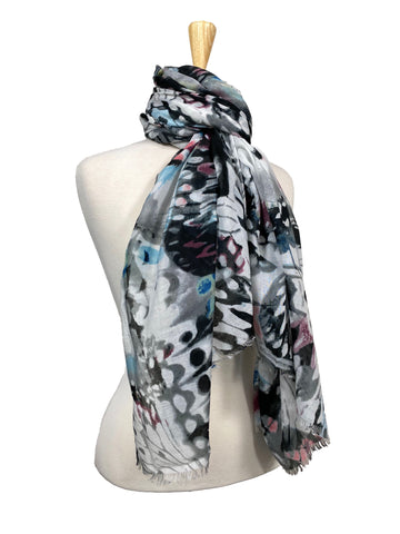 Scarf Butterfly Dream Grey