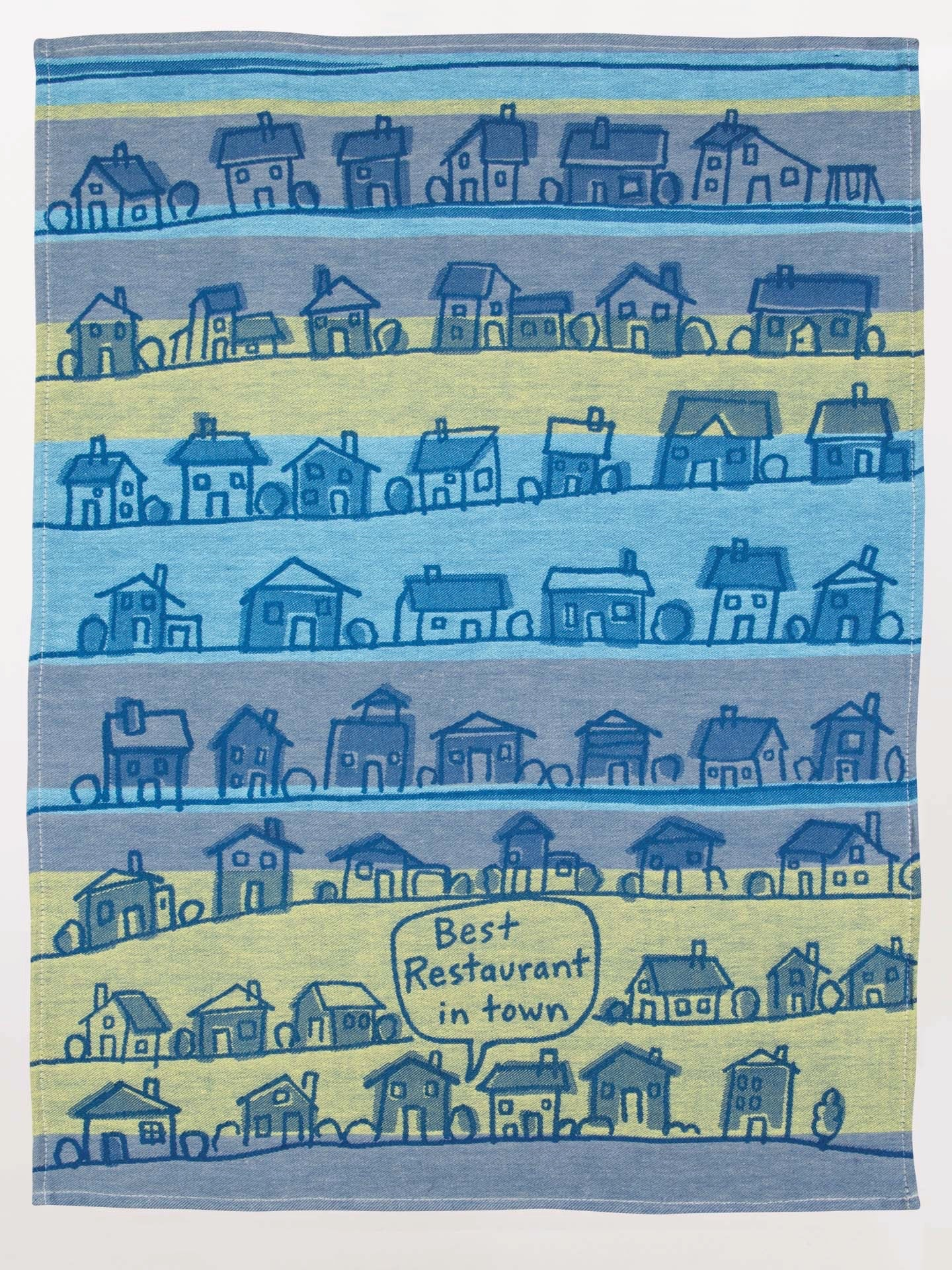 Blue Q Dishtowel - Best Restaurant In Town