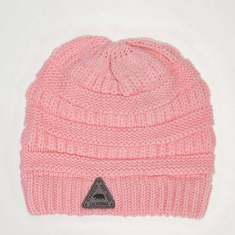 Knit Chico Beanie with Small Patch