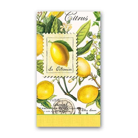 Lemon Basil Hostess Napkins by Michel Design Works