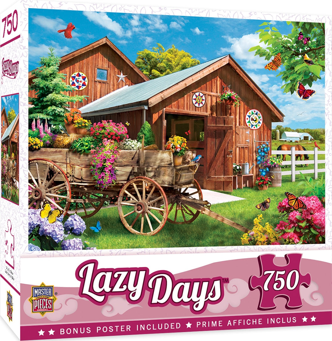 Lazy Days - Flying To Flower Farm 750 Piece Puzzle