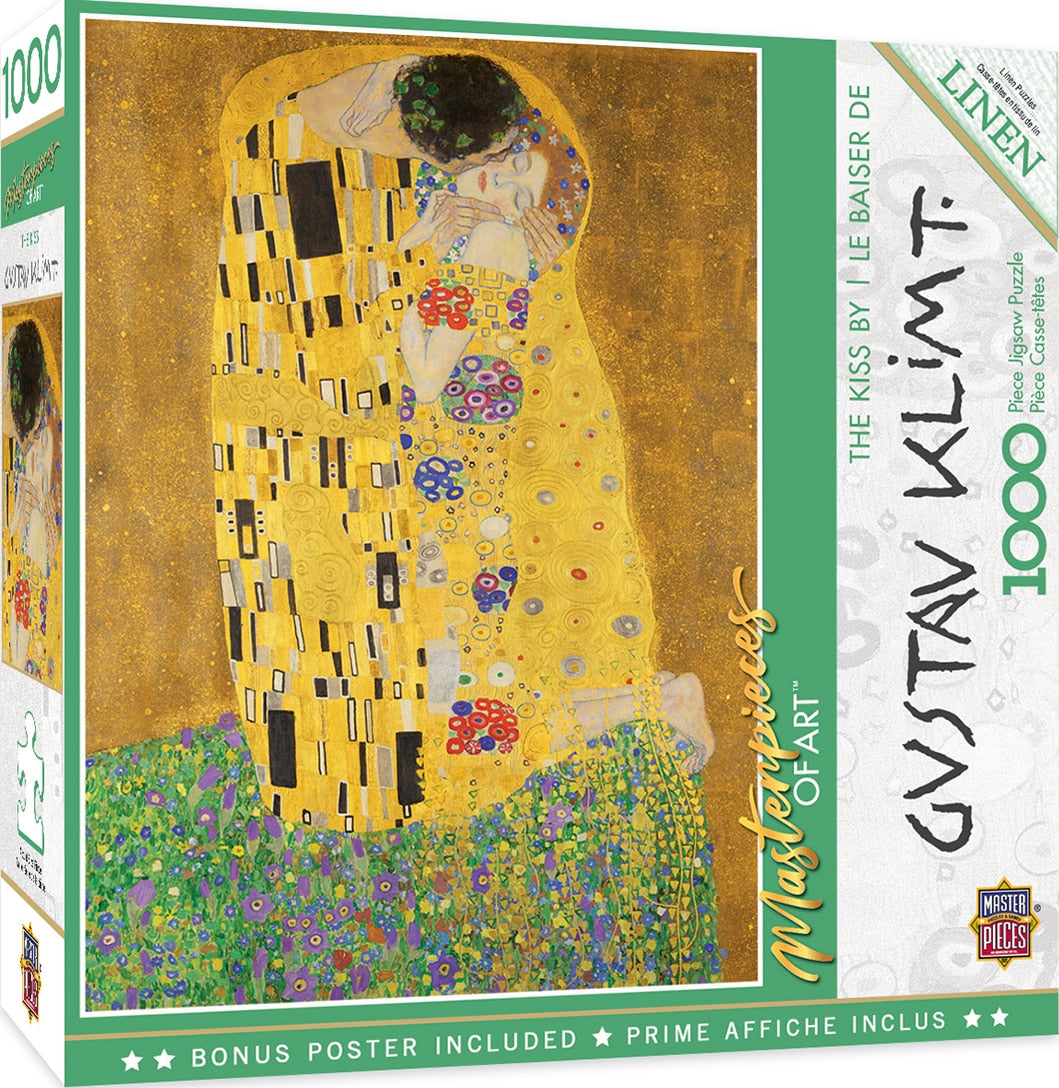 The Kiss 1000 Piece Gustav Klimt Puzzle