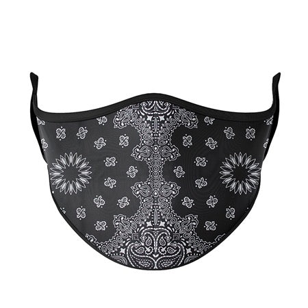 Kids or Adult Mask Ages 8+ - Black Bandana