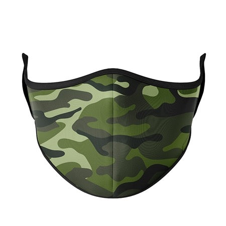 Kids or Adult Mask Ages 8+ - Green Camo
