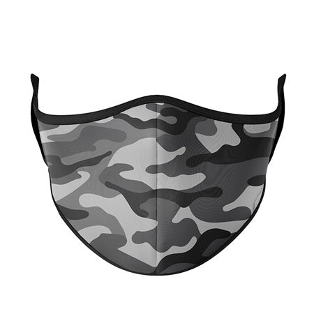 Kids or Adult Mask Ages 8+ - Grey Camo