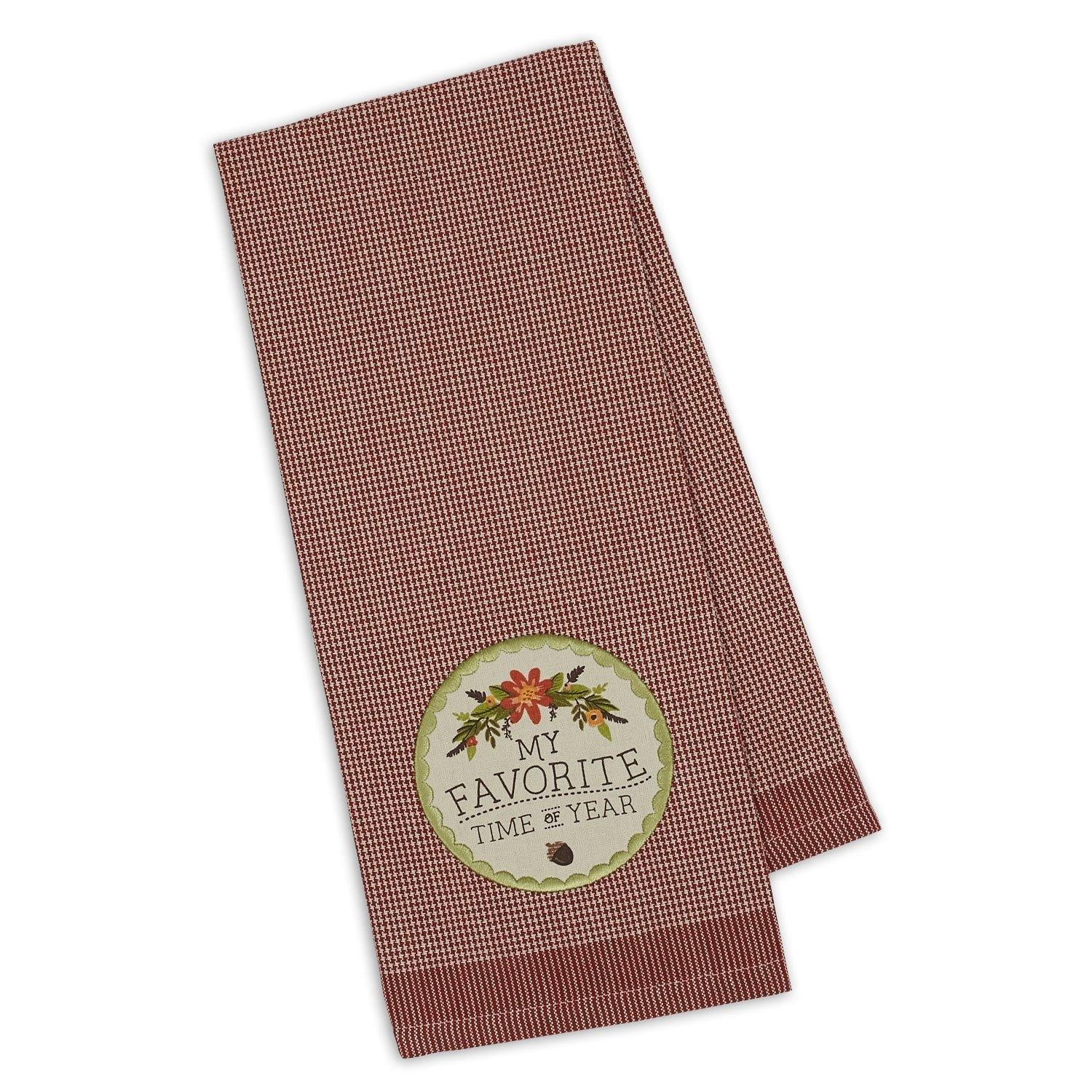 My Favorite Time of The Year Applique Dishtowel