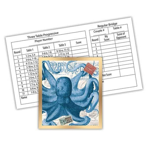 Octopus Bridge Tally Score Cards