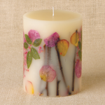Rosy Rings Apricot and Rose Botanical Candle