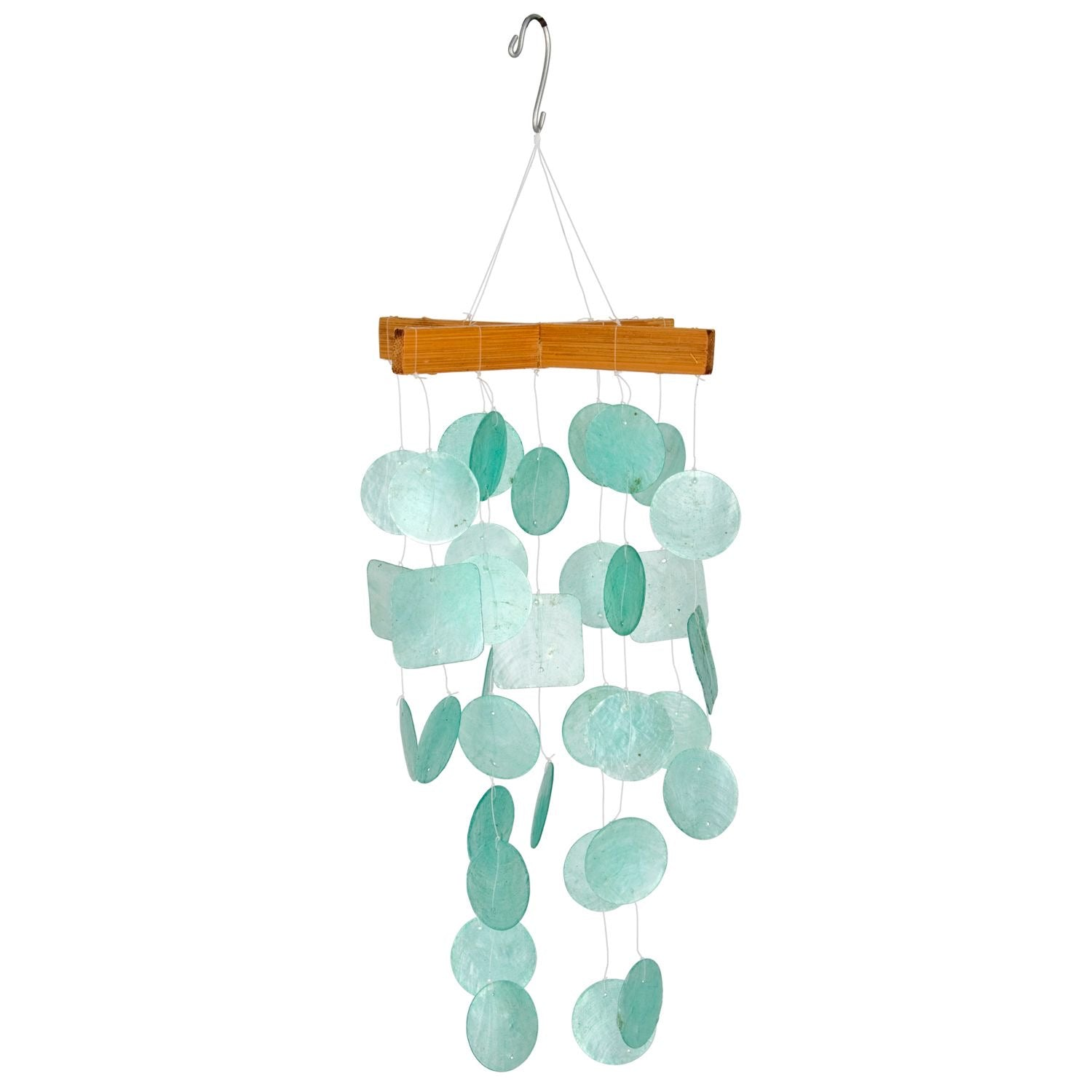 Capiz Chime - Mini Aqua
