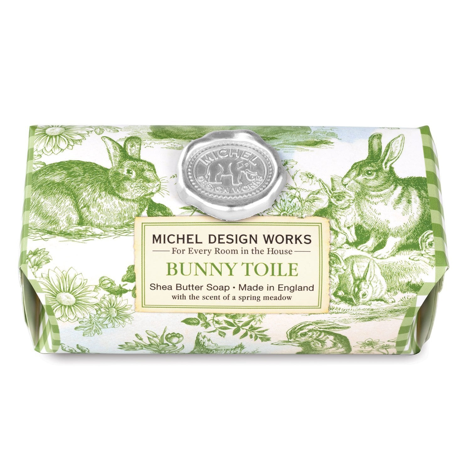 Bunny Toile Shea Butter Soap