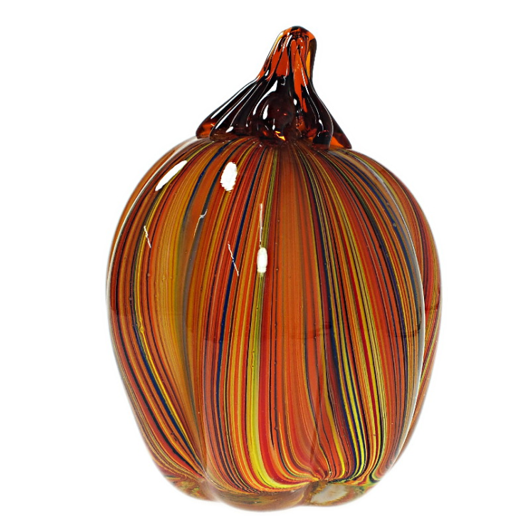 Small Multicolor Stripe Pumpkin