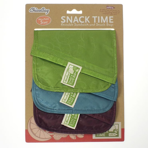 Snack Time rePETe 3-pack - Tuquoise-Pink-Green