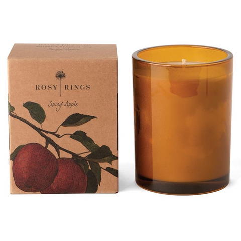 Spicy Apple Glass Botanica Candle
