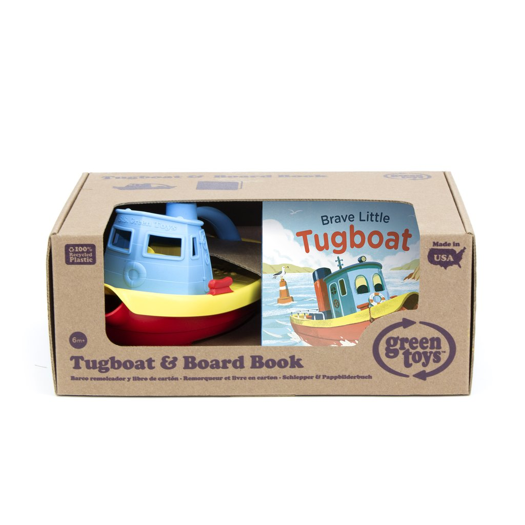 Green Toys Tugboat And Board Book