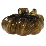 Striped Small Glass Pumpkin