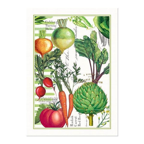 Vegetable Kingdom Kitchen Towel by Michel Design Works