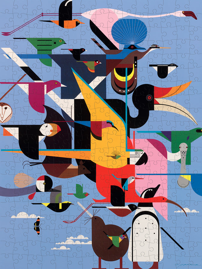 Wings Of The World - 300 Piece Charley Harper Puzzle