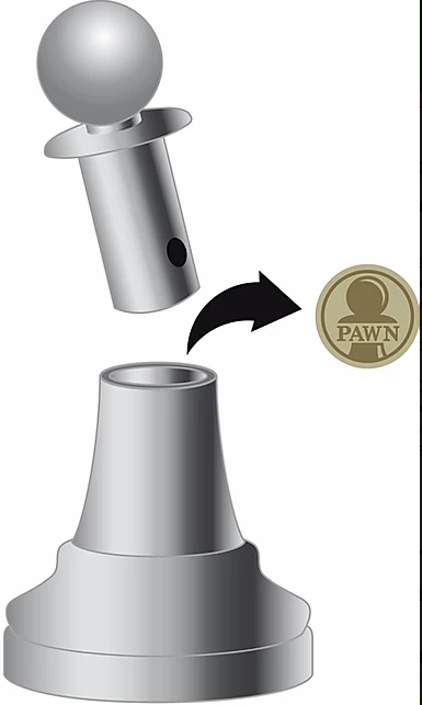 Chess Pawn Hanayama Puzzle - Level 1