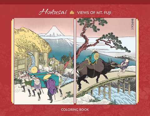 Hokusai - Views of Mt. Fuji Coloring Book