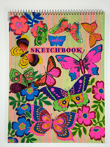 Fluorescent Butterflies Sketch Book