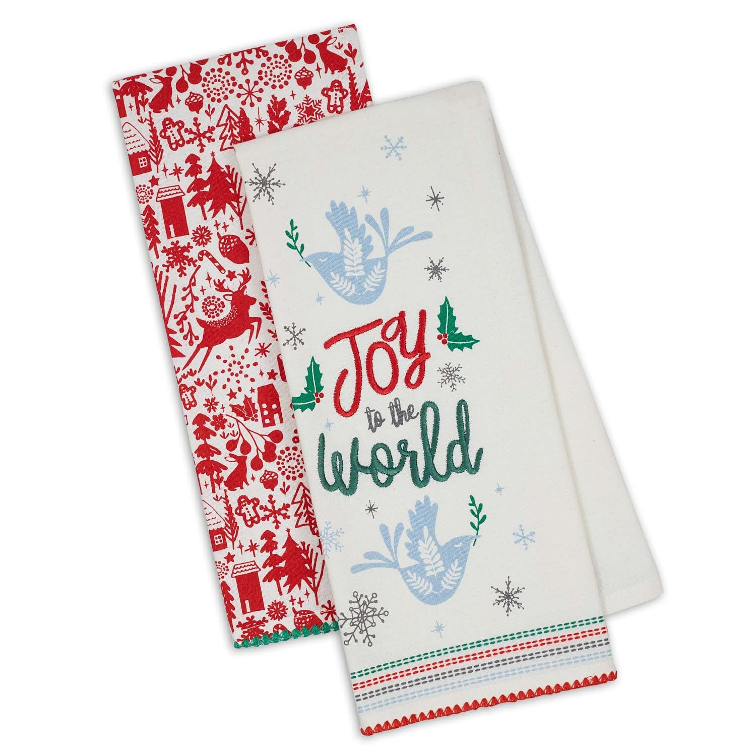 Joy To The World - Set of 2 Dishtowels