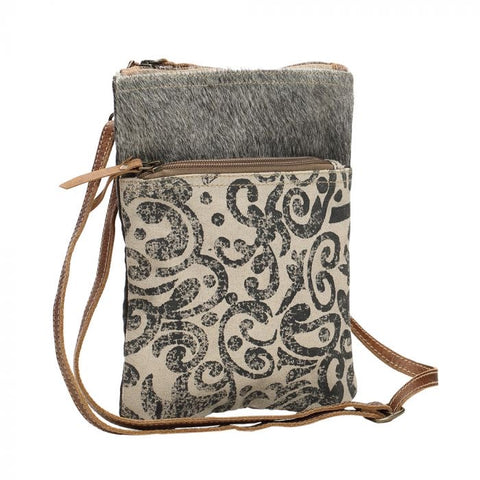 Leaf And Hide Cross Body Bag
