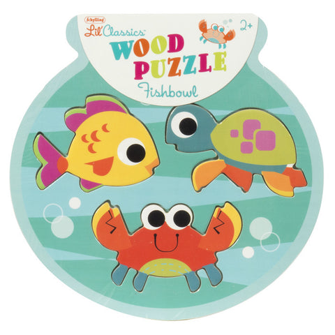Fishbowl 3 Piece Wooden Puzzle
