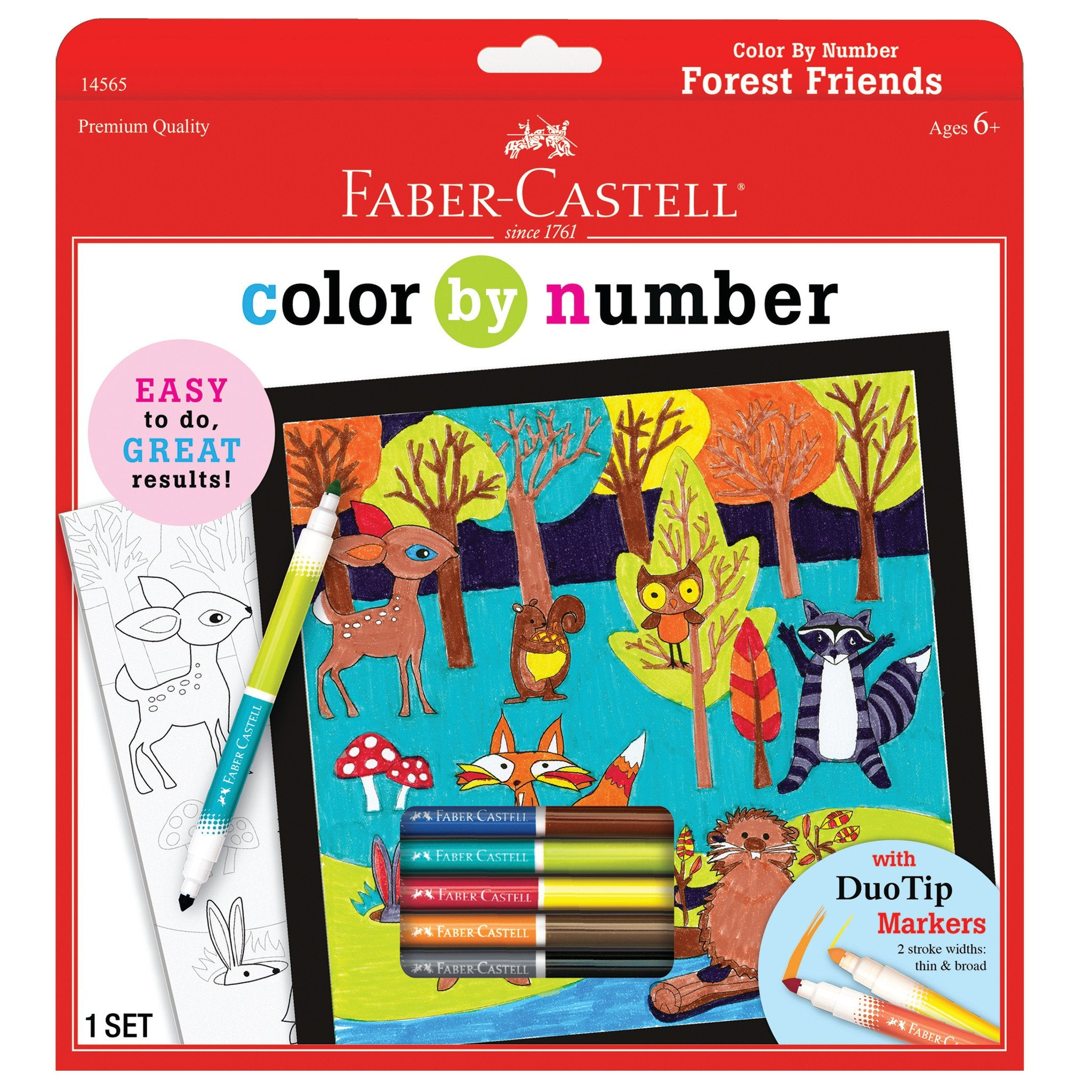 Color By Number - Forest Friends
