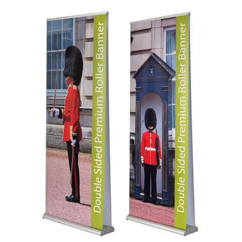 how do you set up a roller banner - double sided