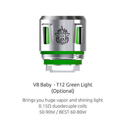 SMOK TFV12 Baby Prince Replacement Vape Coils (5-Pack) Green
