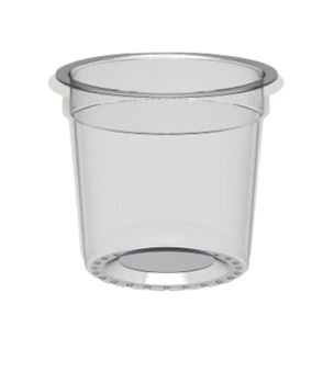 POT YAOURT 12,5 CL D68  PP TRANSPARENT ECOHAND