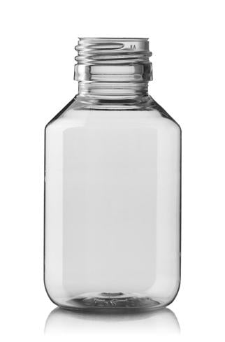 FLACON 100 ML PP 28 CLEAR PHARM ROND