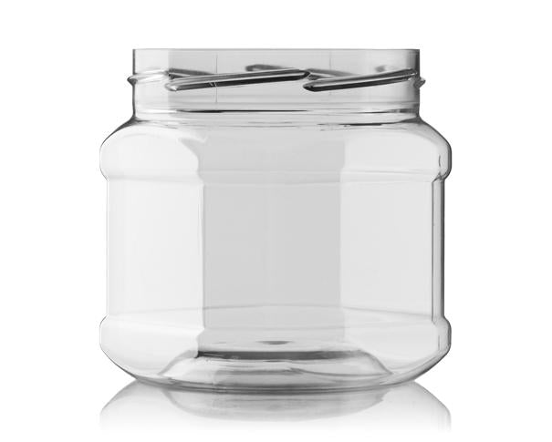 POT 400 ML 82 RTS CLEAR OCTOGONAL