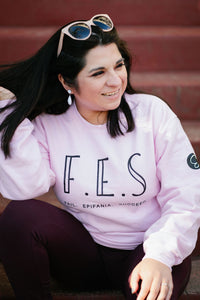 Epifania Fail...Epifania...Succeed (Pink Crewneck Sweater)
