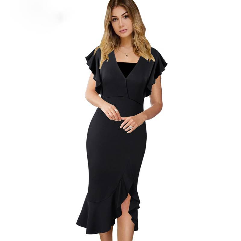 6c48f79b536f Elegant Sexy Cocktail Midi Dress – Marsco Unlimited