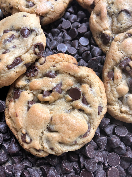 Ooey Gooey Chocolate Chip Cookies Made with Lard