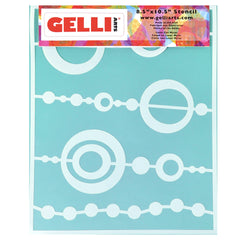Bead Stencil - Designed to print with 8x10 Gelli Arts® printing plate