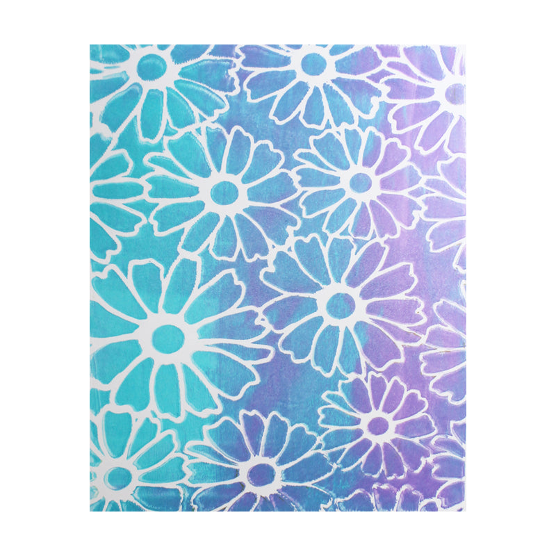 Flower Stencil - Designed to print with 8x10 Gelli Arts® printing plate