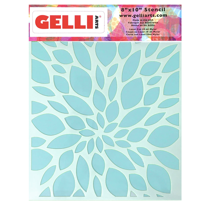 NEW Leaf Stencil - Designed to print with 5x7 Gelli Arts® printing plate