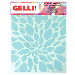 NEW Leaf Stencil - Designed to print with 8x10 Gelli Arts® printing plate