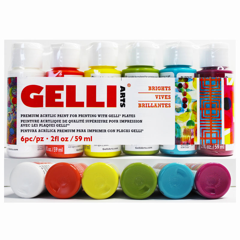 NEW!!!!!  Gelli Arts® Premium Acrylic Paint Set - Bright Colors