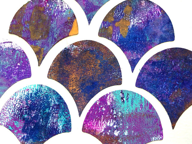 A New Mini Seashell Printing Plate & Printable Stickers ---- Jane Davenport & Gelli Arts