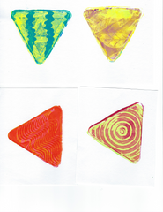 New!!  Mini Plate Class Pack - Contains 10 Triangle Shaped Mini Plates & Accessories