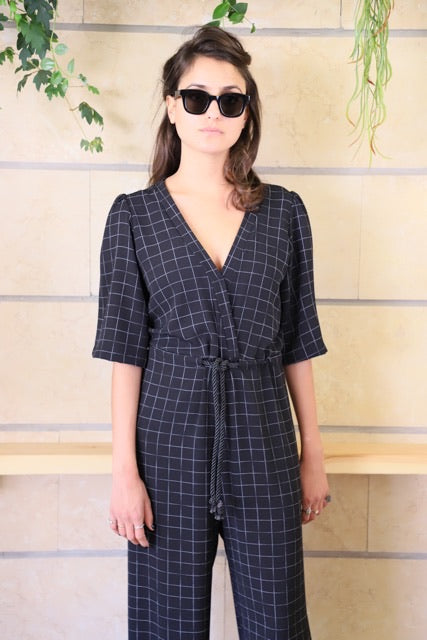 TOKYO Jumpsuit in Checkered