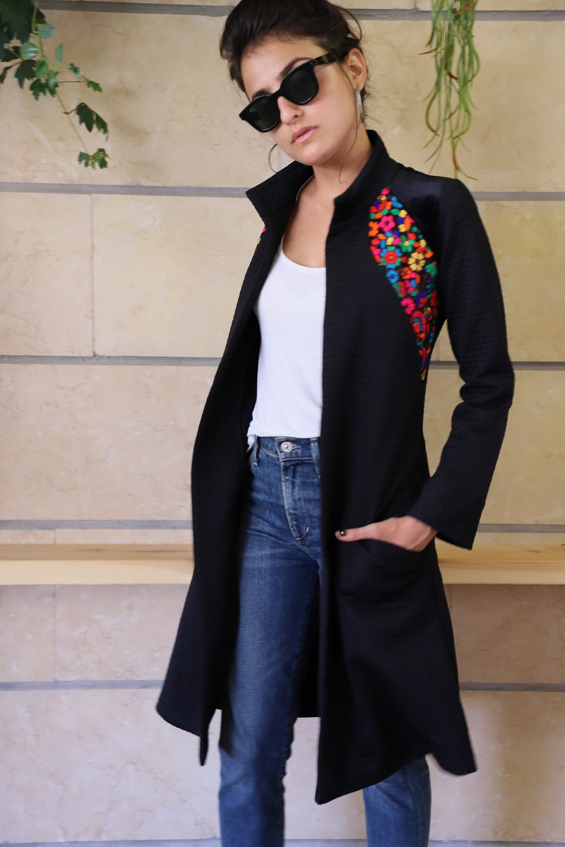 BOHO Coat in Black