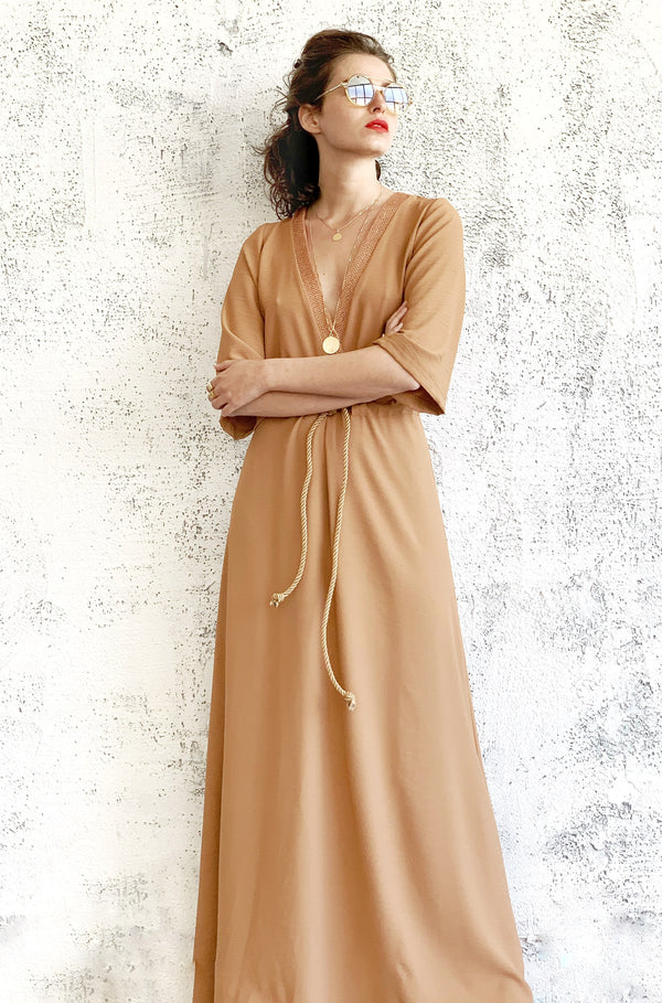 Maxi Kyoto in dark Nude